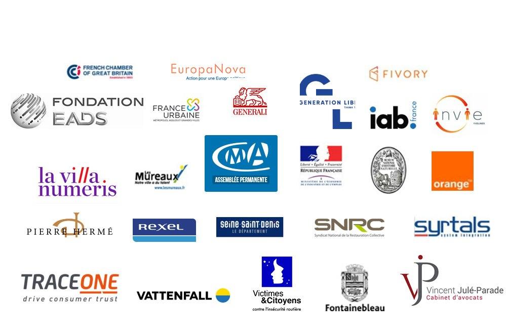 Fondation EADS, EuropaNova, Fivory, GENERALI, PIERRE HERMÉ, REXEL, SNRC, SYRTALS, VATTENFALL, Victimes & Citoyens